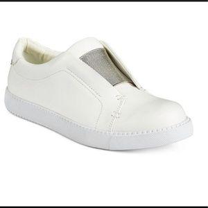 Bar III Hint White Low Top Slip On Sneaker Sz 10